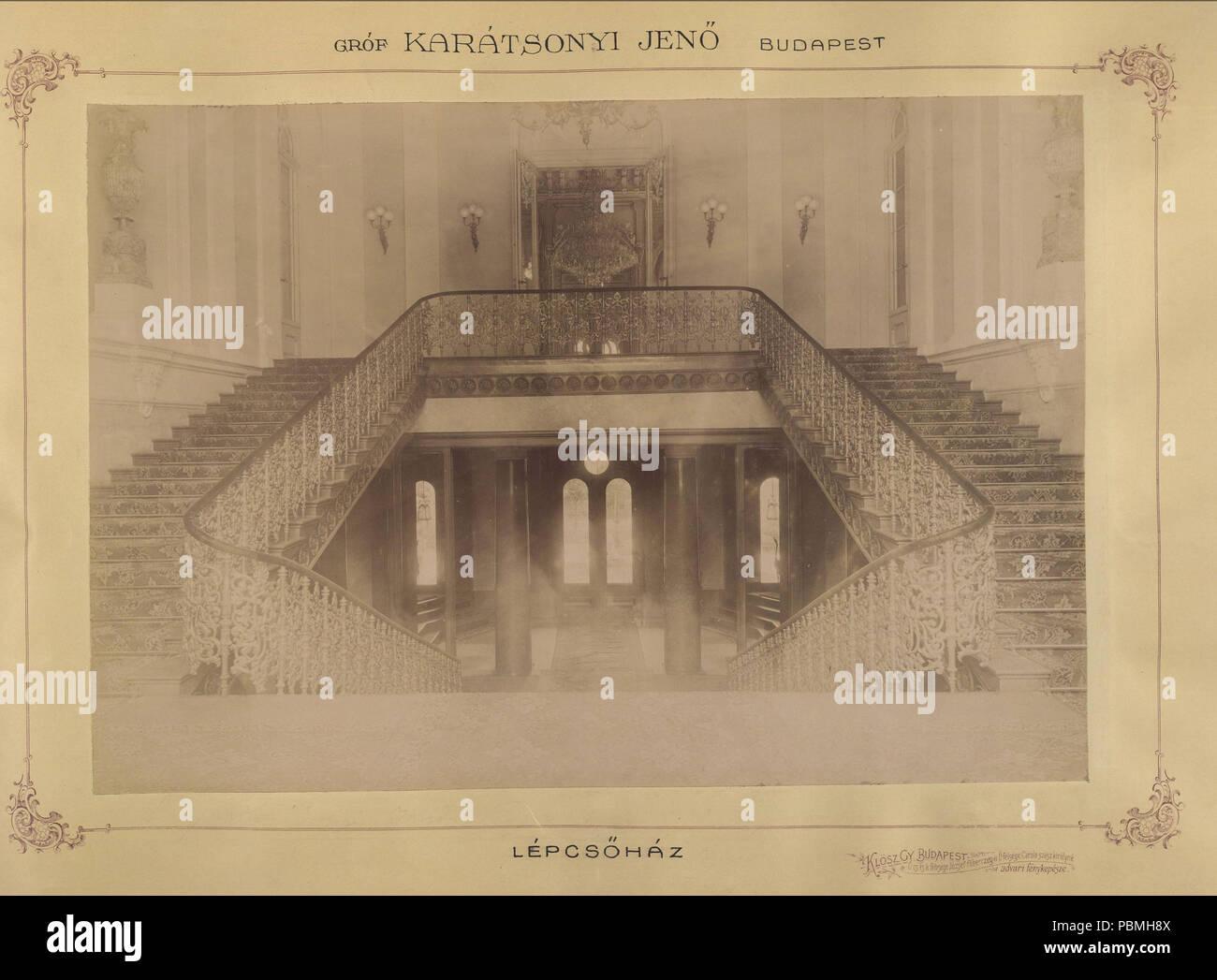868 Krisztina körút 55., a Karátsonyi-palota (lebontották) lépcsőháza. - Budapest, Fortepan 83163 - Stock Image