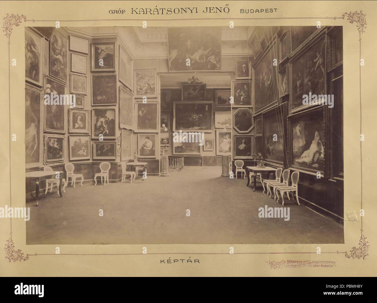 868 Krisztina körút 55., a Karátsonyi-palota (lebontották) képtára. A felvétel 1895-1899 között készült. A kép Fortepan - Budapest Főváros Levéltára. Levéltári jelzet- HU.BFL.XV.19.d.1.11.073 Fortepan 83165 - Stock Image