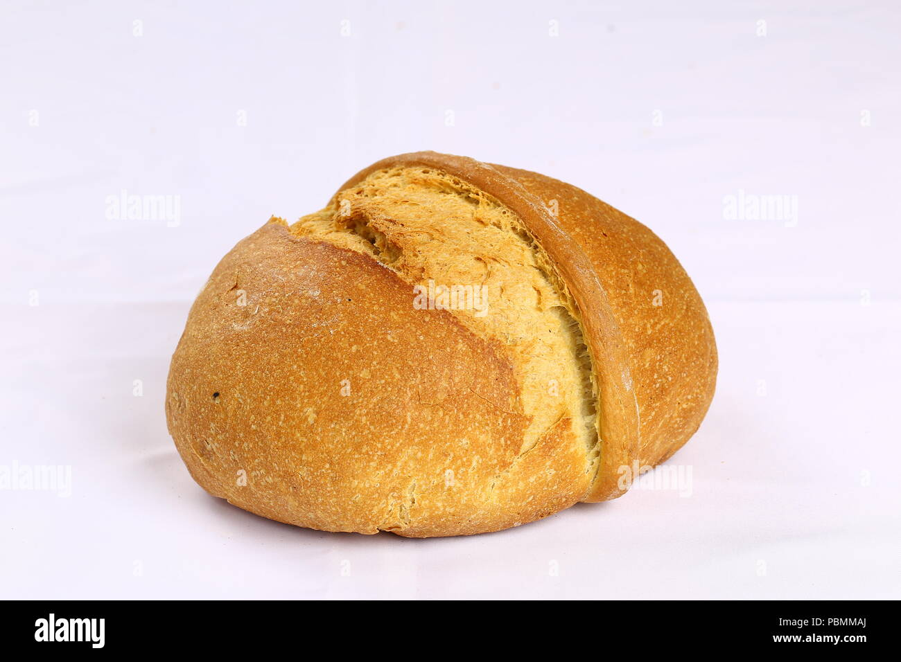 Fresh traditional Loaf of bread - Wholegrain bread Stock Photo