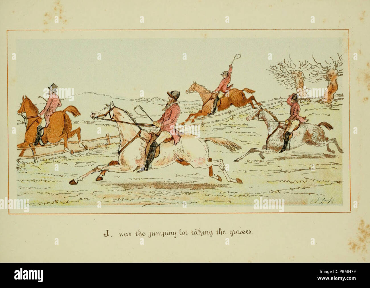 ABC of fox hunting (Plate 10) Stock Photo