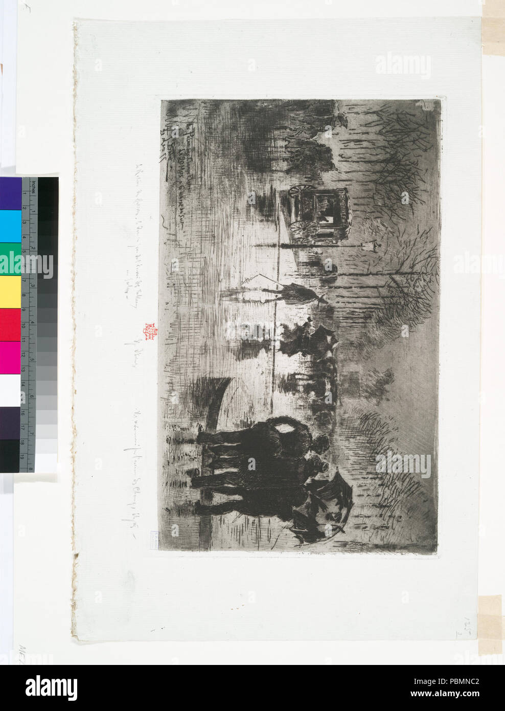 893 Le retour des artistes (NYPL b12391416-498461) - Stock Image