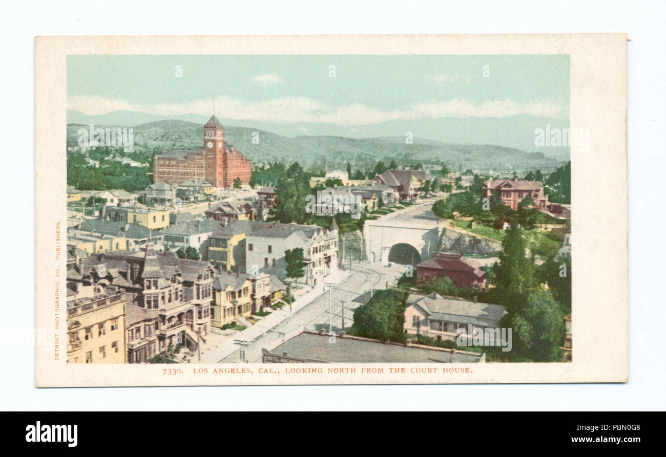 935 Looking North from Court House, Los Angeles, Calif (NYPL b12647398-66565) - Stock Image
