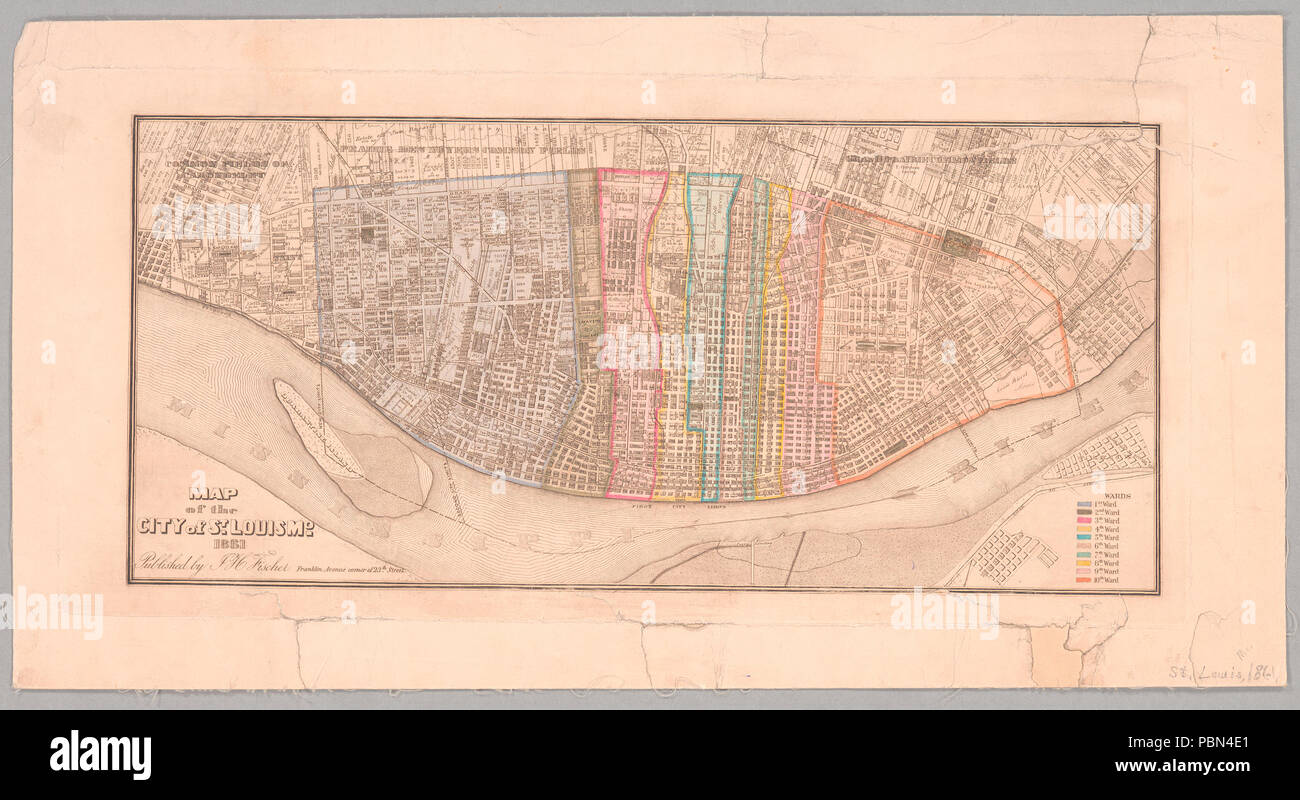 994 Map of the city of St. Louis, Mo., 1861 (NYPL b15842301-1952952 ...