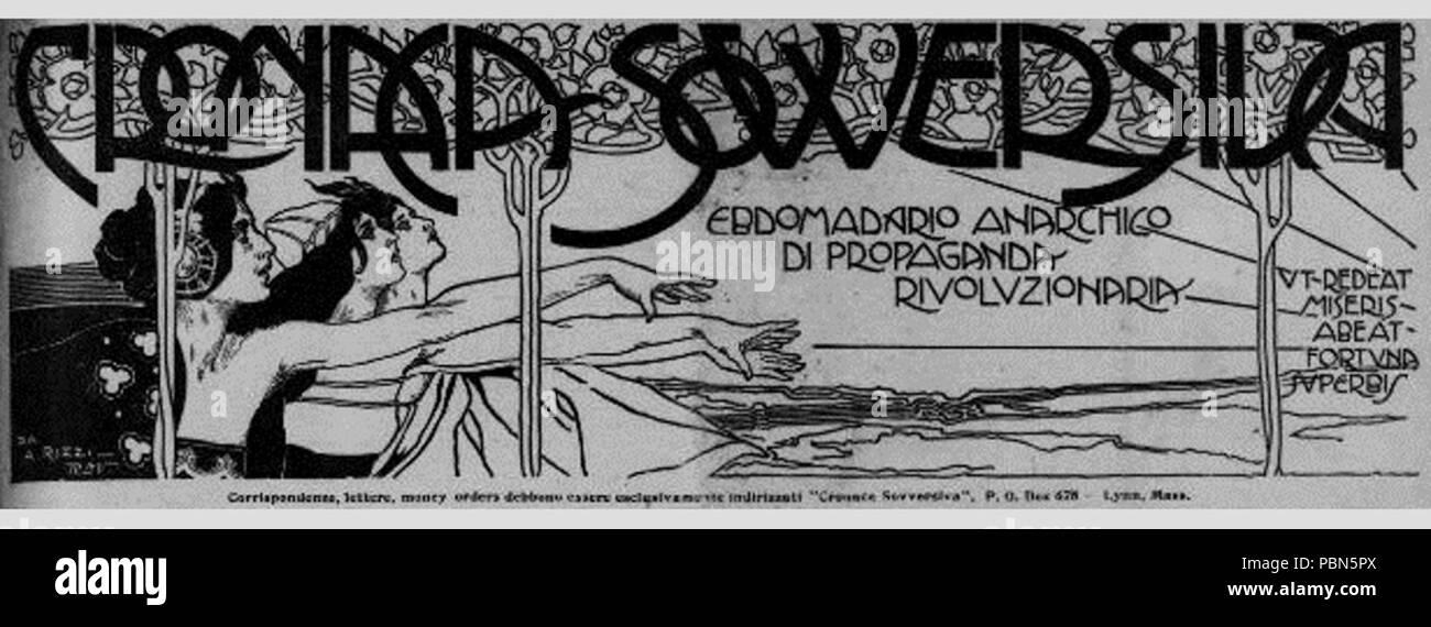 1005 Masthead. Cronaca Sovversiva. (Barre, Vermont) January 20, 1917 Stock Photo