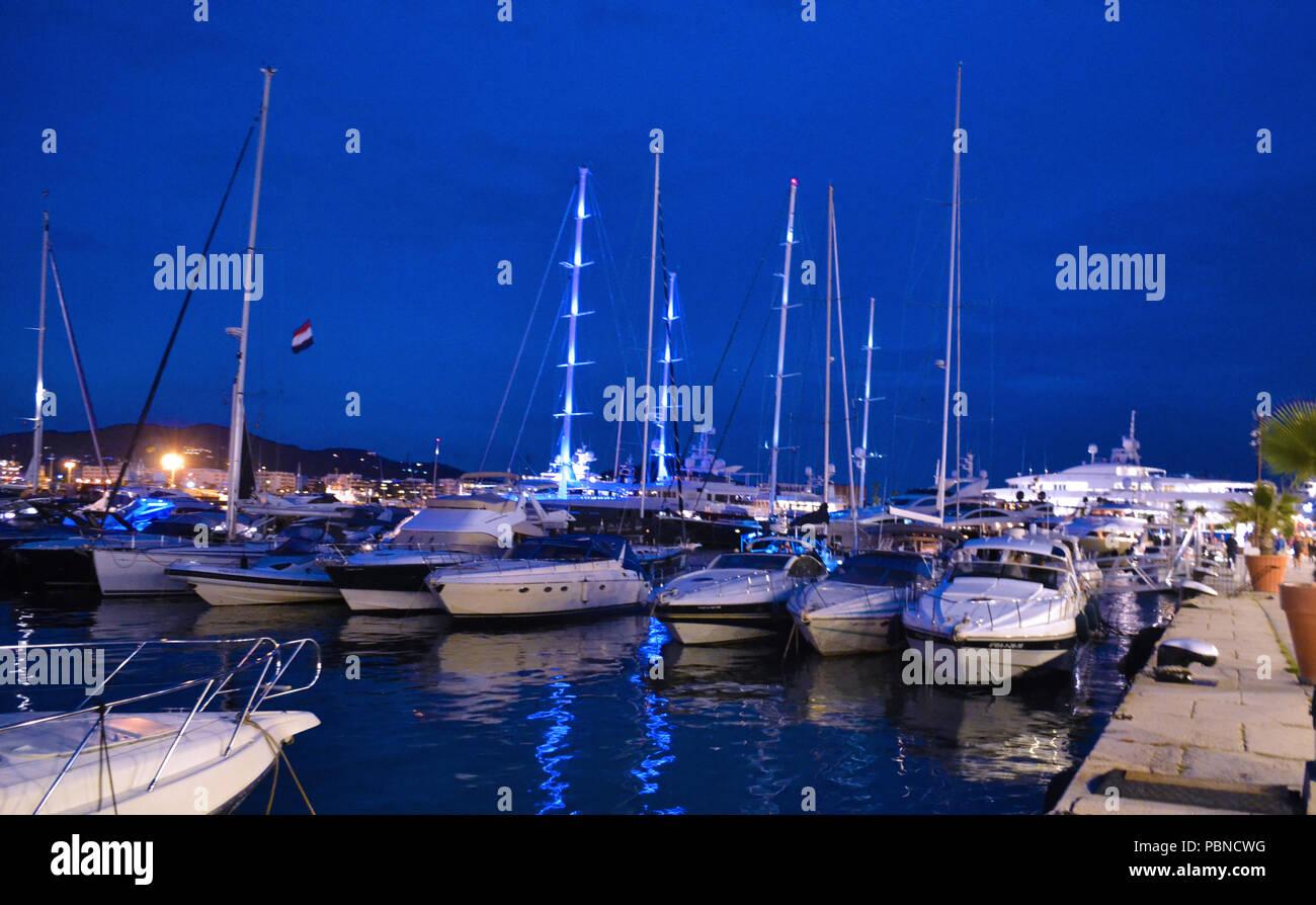 Spain Ibiza Port - Stock Image
