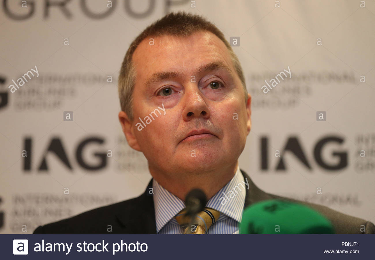 """EMBARGOED TO 001 MONDAY JULY 30 File photo dated 27/05/15 of International Airlines Group (IAG) chief executive, Willie Walsh, who has said he is """"optimistic"""" over a legal challenge to end crippling strikes, but warned over long-term disruptions for fliers if it does not succeed. - Stock Image"""
