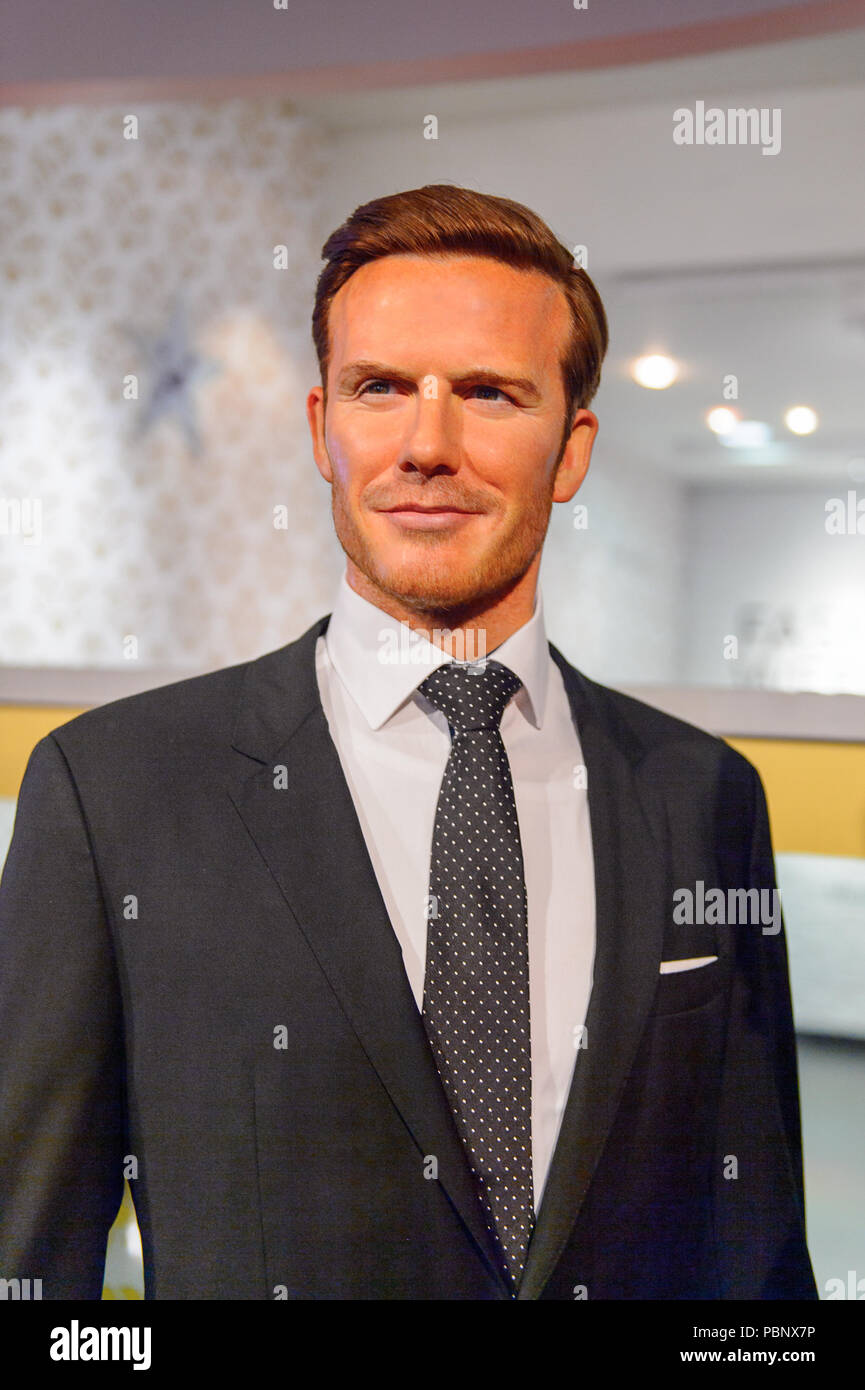 London England July 22 16 David Beckham English Football Player Madame Tussauds Wax Museum It Is A Major Tourist Attraction In London Stock Photo Alamy