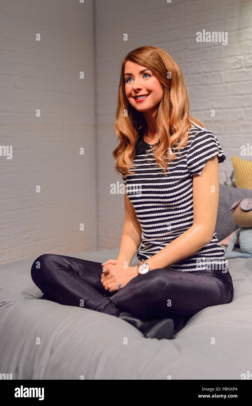 LONDON, ENGLAND - JULY 22, 2016: Zoe Elizabeth Sugg, Madame Tussauds wax museum. It is a major tourist attraction in London Stock Photo