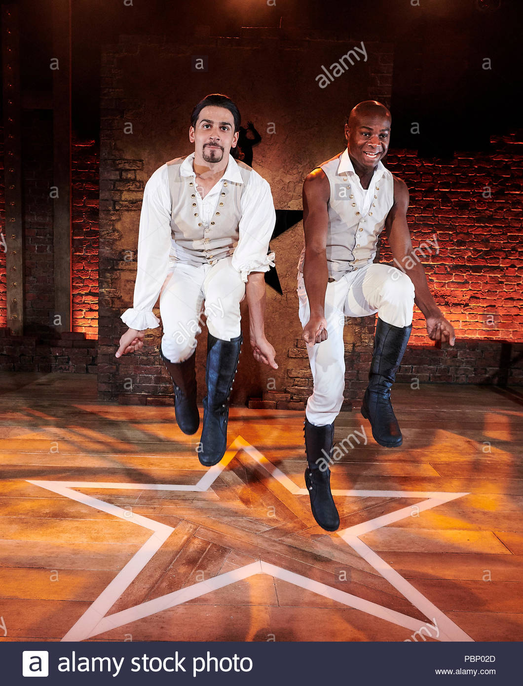 Spamilton. An American Parody.Written and directed by Gerard Alessandrini, choregraphed by Gerry McIntyre. With Liam Tamne, Eddie Elliott. Opens at The Mernier Chocolate Factory Theatre on 24/7/18. CREDIT Geraint Lewis EDITORIAL USE ONLY - Stock Image