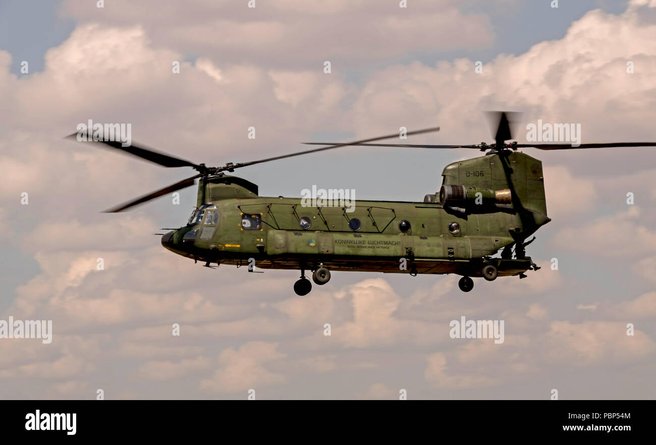 Chinook, Royal Netherlands Air Force, D-106 - Stock Image