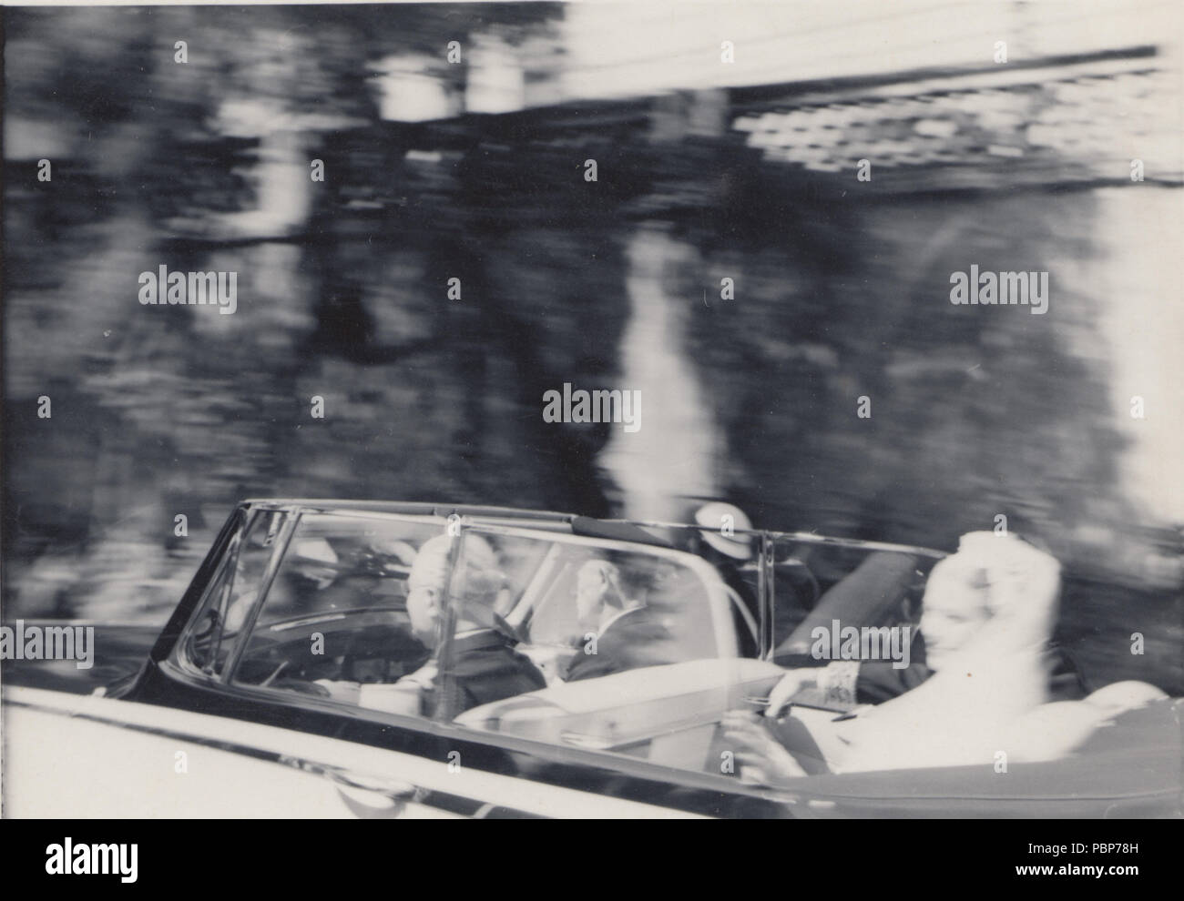 Vintage 1956 Photograph of The Wedding of Grace Kelly and  Prince Rainier III in Monaco - Stock Image
