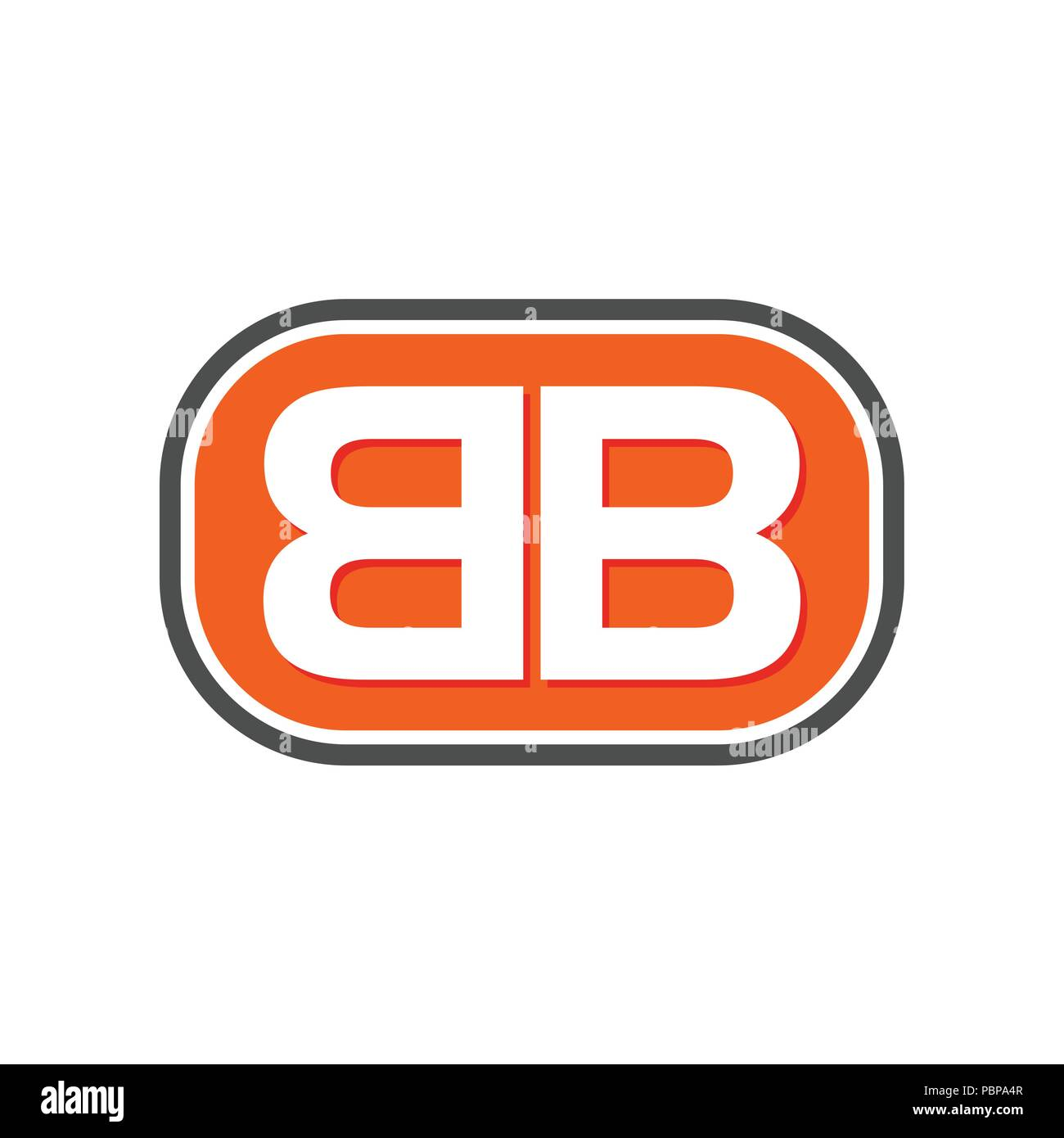 picture regarding Bb&t Printable Deposit Slip titled BB Initials Lettermark Vector Emblem Picture Symbol Style and design