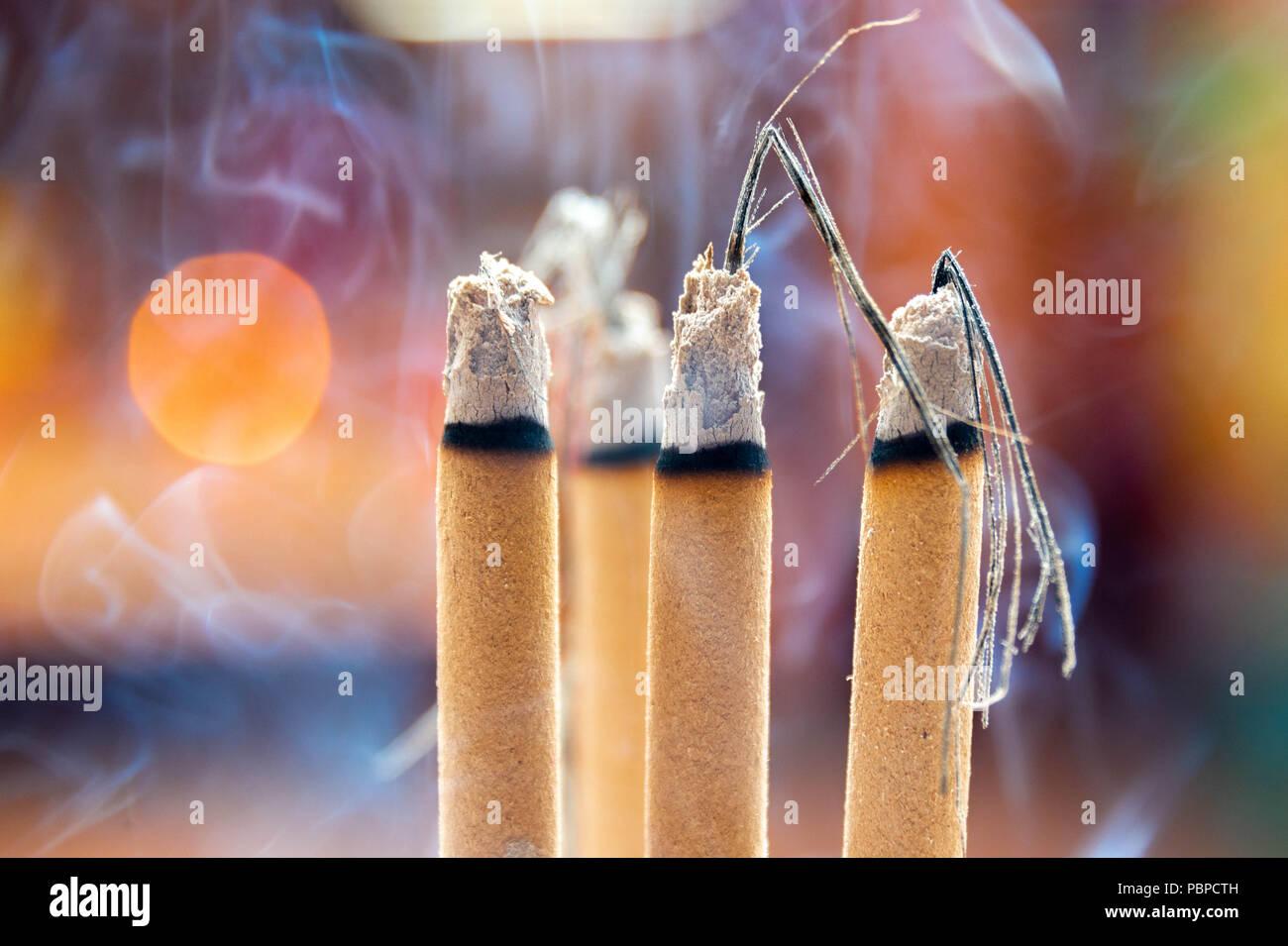 Joss sticks in a Taoist temple in Kuala Lumpur - Stock Image