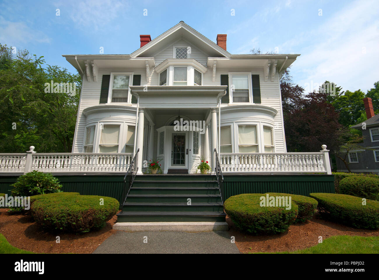 Stately house in Lexington, Middlesex County, Massachusetts, USA Stock Photo