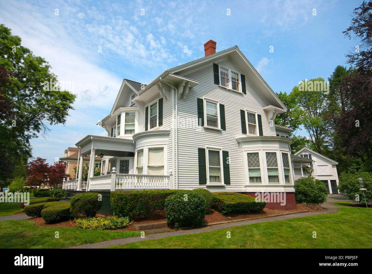 Stately house in Lexington, Middlesex County, Massachusetts, USA - Stock Image