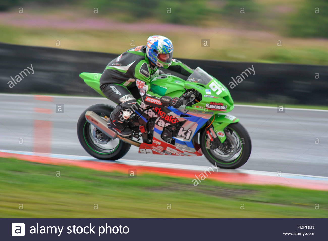 Dunfermline, UK  29 July, 2018  Callum Grigor's Kawasaki ZX10RR in a