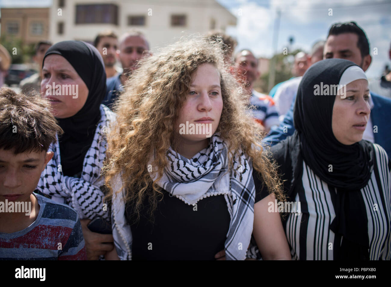 Nabi Saleh, West Bank  29th July, 2018  Palestinian activist