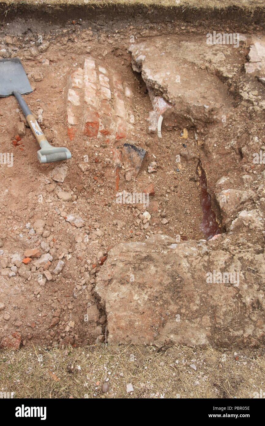 Clumber Park, Nottinghamshire, 29 July 2018. Archaeology at Clumber Park Credit: Graham, David/Alamy Live News - Stock Image