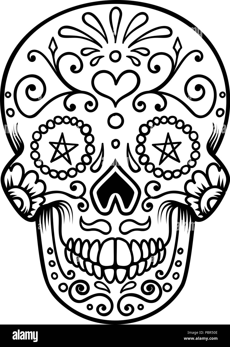 daisy on dark background stock vector images alamy Glass Transparent Clear Background Banner sugar skull isolated on white background day of the dead dia de los muertos