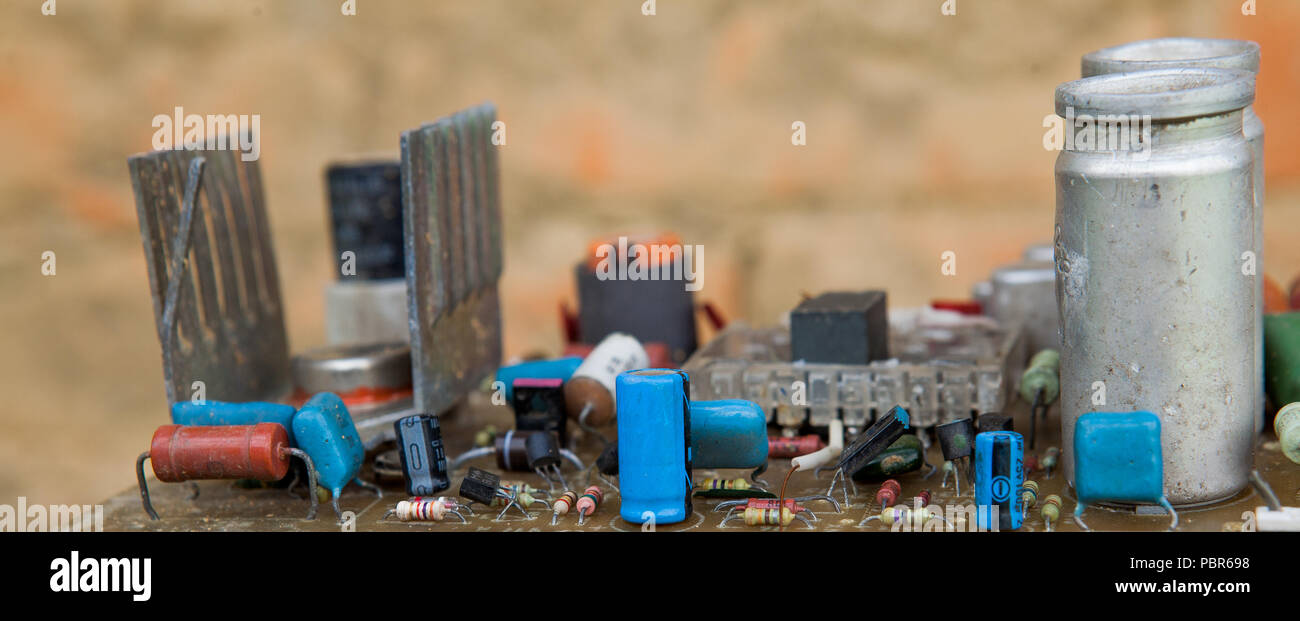 Computer Component Assembly Line Stock Photos Board Services Buy Circuit Assemblyelectronic Closeup Electronic Background Abstract Shallow Dof Image
