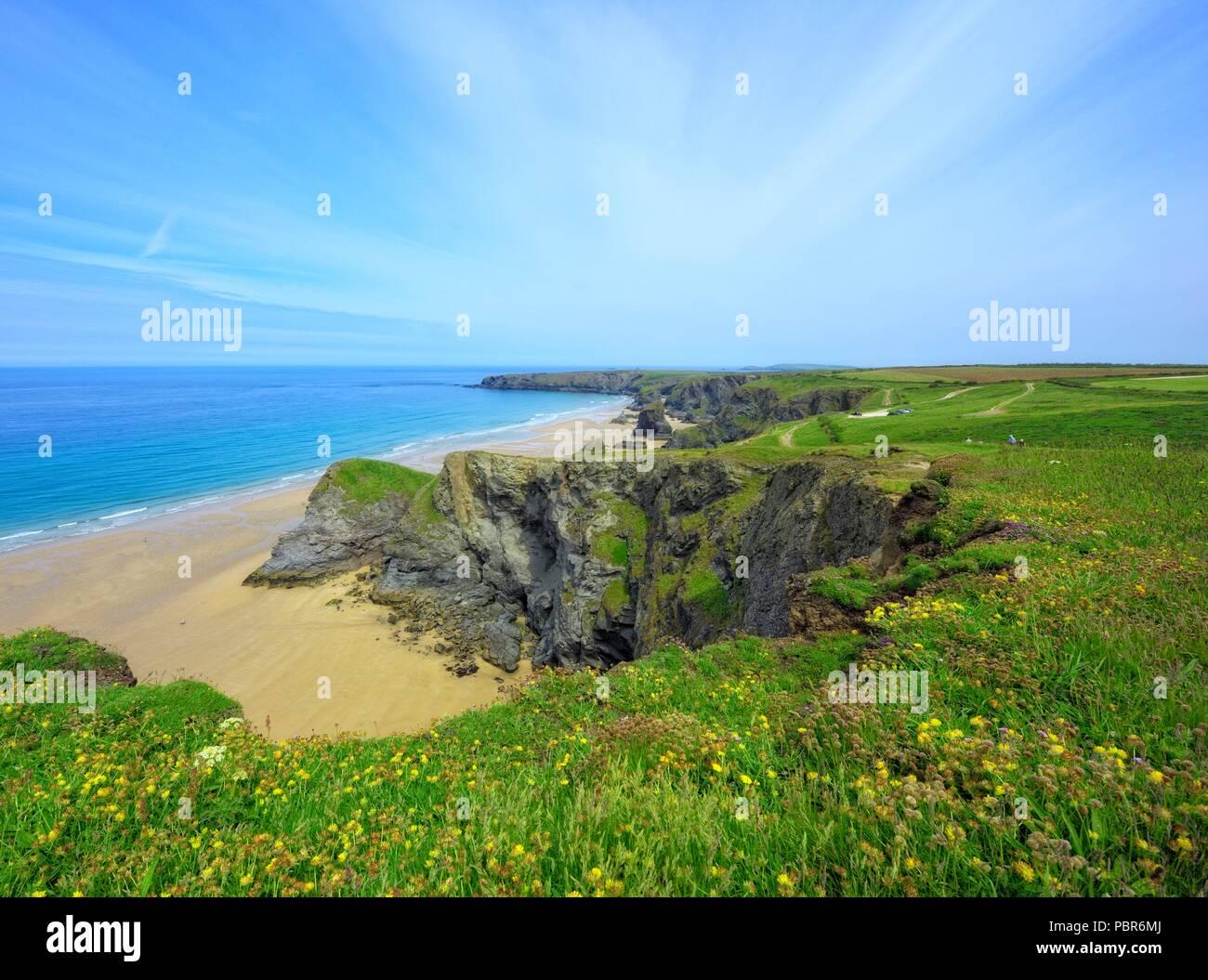 Trerathick Point, Cornwall,England,UK - Stock Image