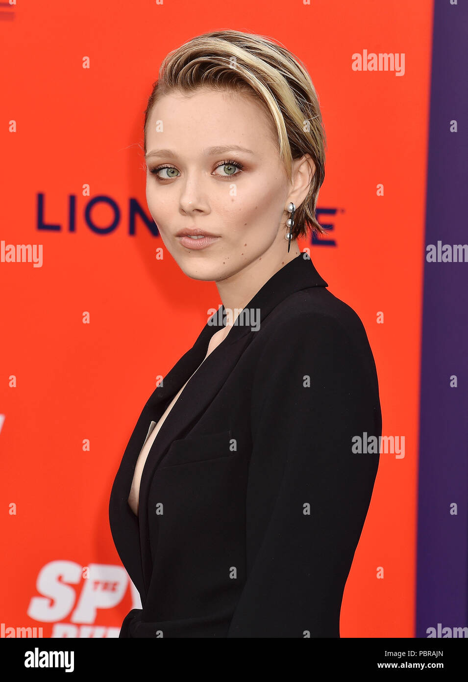 IVANA SAKHNO Ukrainian actress at the premiere of Lionsgate's 'The Spy Who Dumped Me' at Fox Village Theater on July 25, 2018 in Los Angeles, California. Photo: Jeffrey Mayer - Stock Image