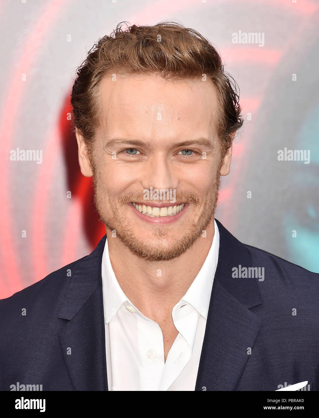 SAM HEUGHAN Scottish film actor at the premiere of