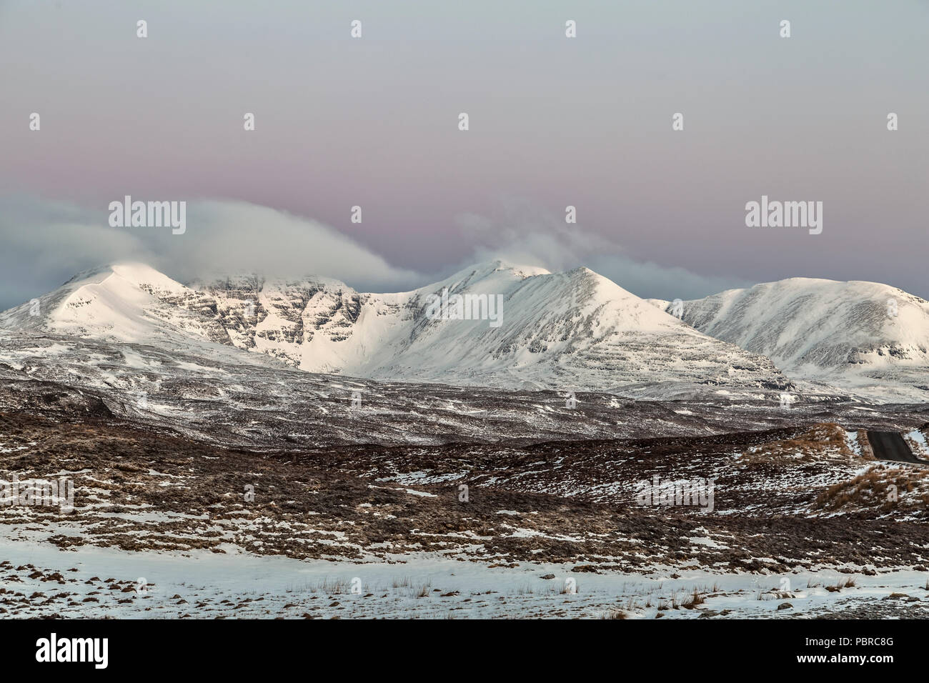 The mountain of An Teallach in Wester Ross, Northwest Highlands of Scotland. An Teallach  has two Munros, the higher Bidean a' Ghlas Thuill. - Stock Image