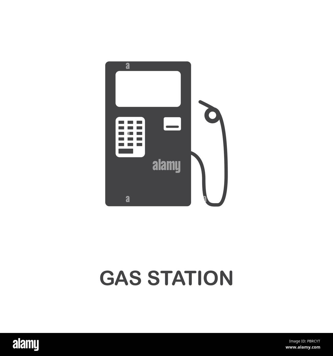 Gas Station Creative Icon Simple Element Illustration Gas Station