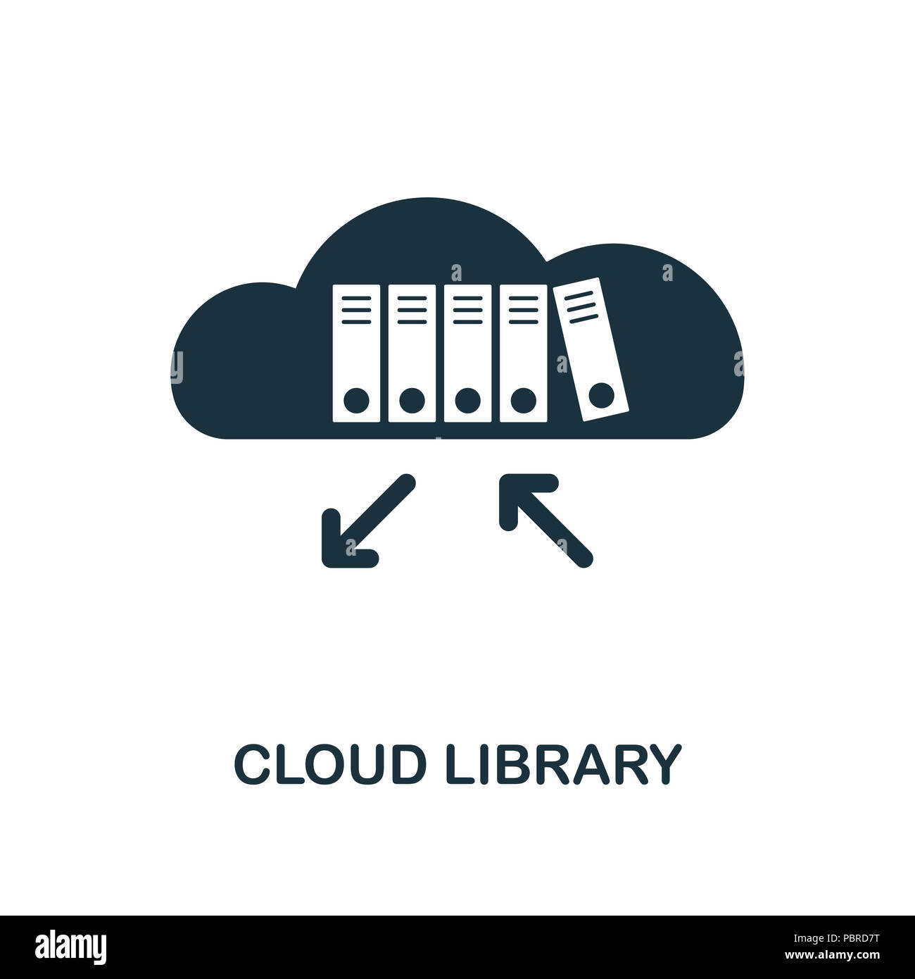 Cloud Library creative icon  Simple element illustration