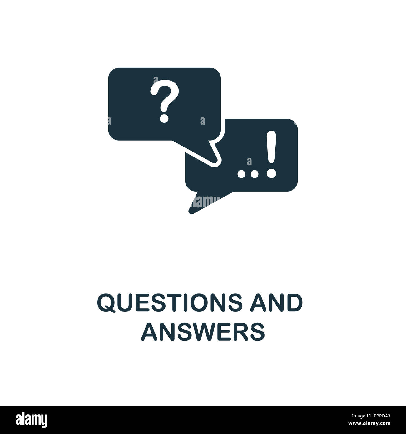 Questions And Answers creative icon  Simple element