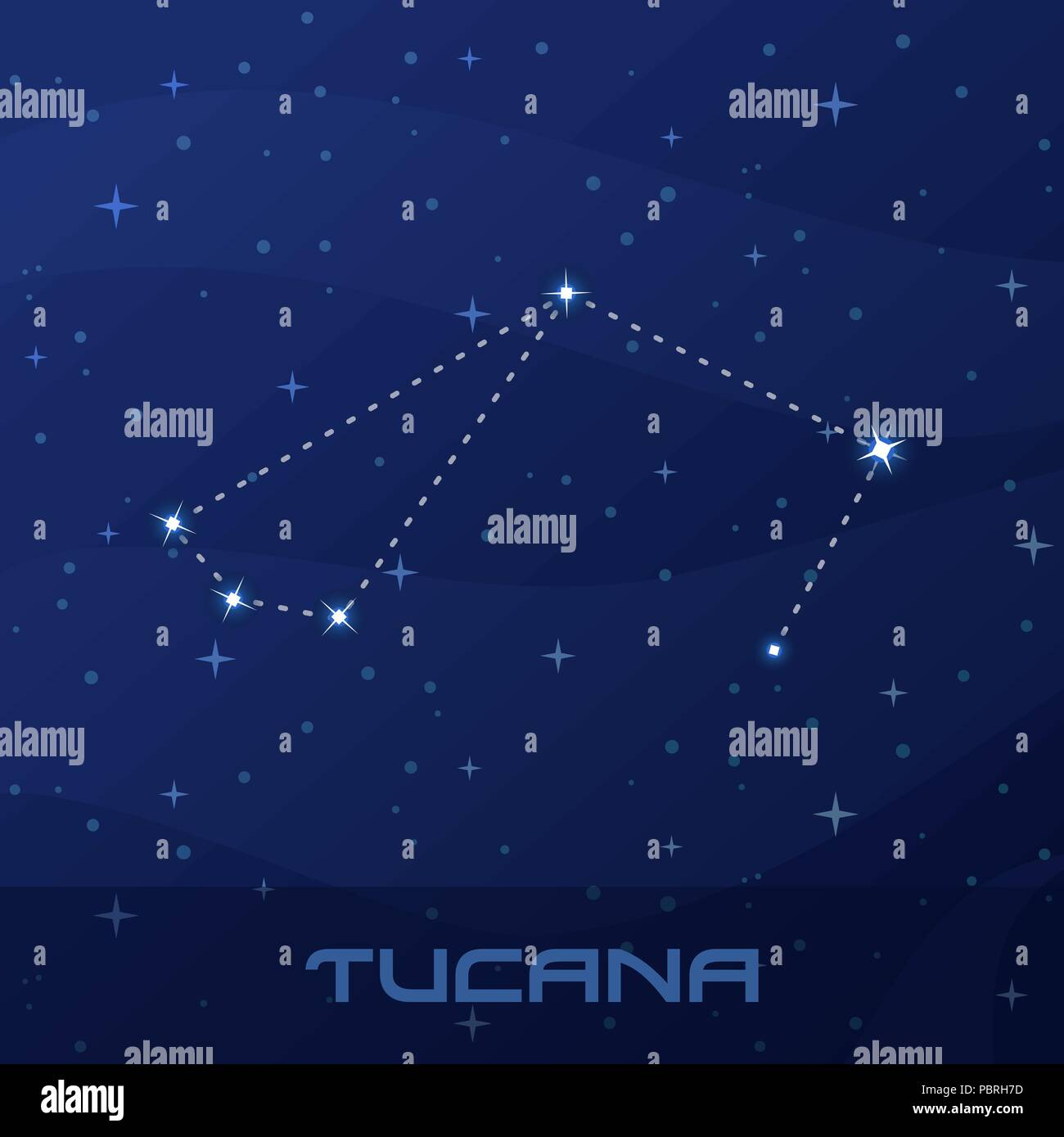 Constellation Tucana, Toucan, ...