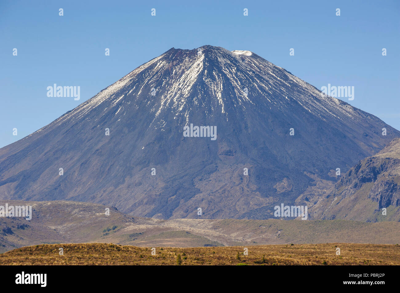 Mount Ngauruhoe, Unesco world heritage sight Tongariro National Park, North Island, New Zealand - Stock Image