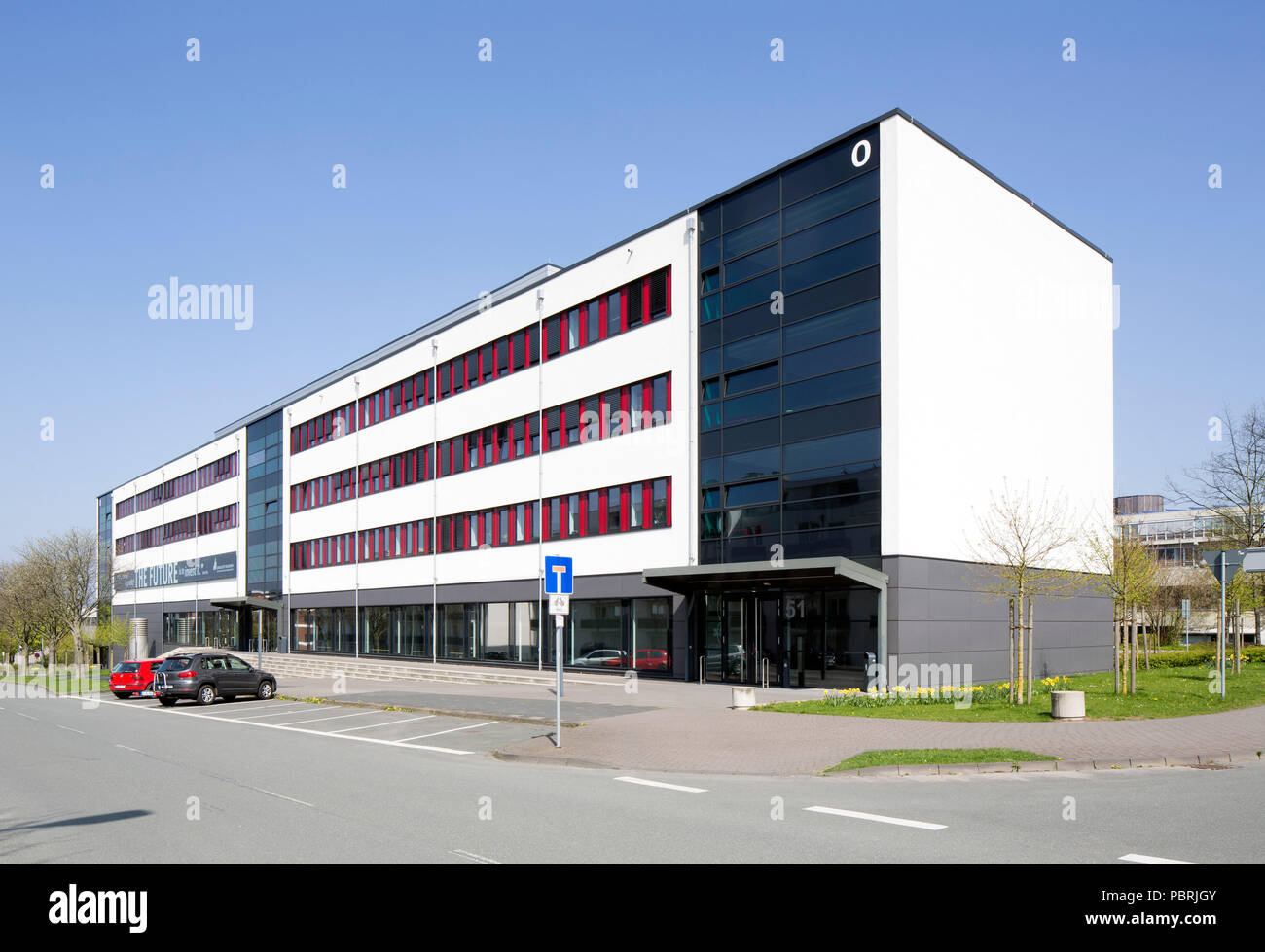 University of Paderborn, main campus, faculty building computer