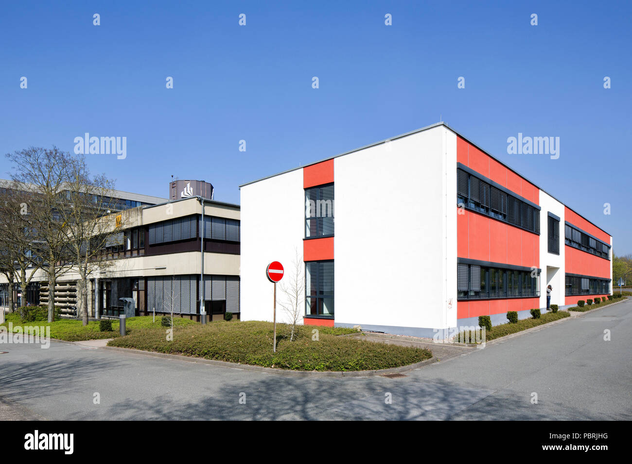 University of Paderborn, main campus, Halle natural sciences, Paderborn, East-Westphalia, North Rhine-Westphalia, Germany - Stock Image