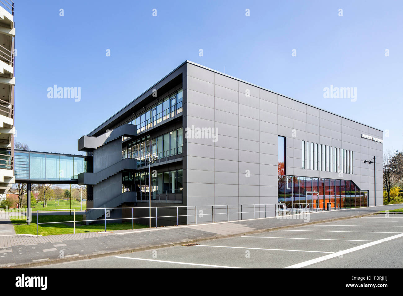 University of Paderborn, main campus, auditorium and seminar building, Paderborn, East-Westphalia, North Rhine-Westphalia - Stock Image