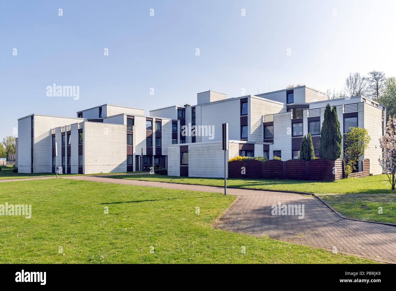Dormitory of the University of Applied Sciences, FHDW, Paderborn, East-Westphalia, North Rhine-Westphalia, Germany - Stock Image