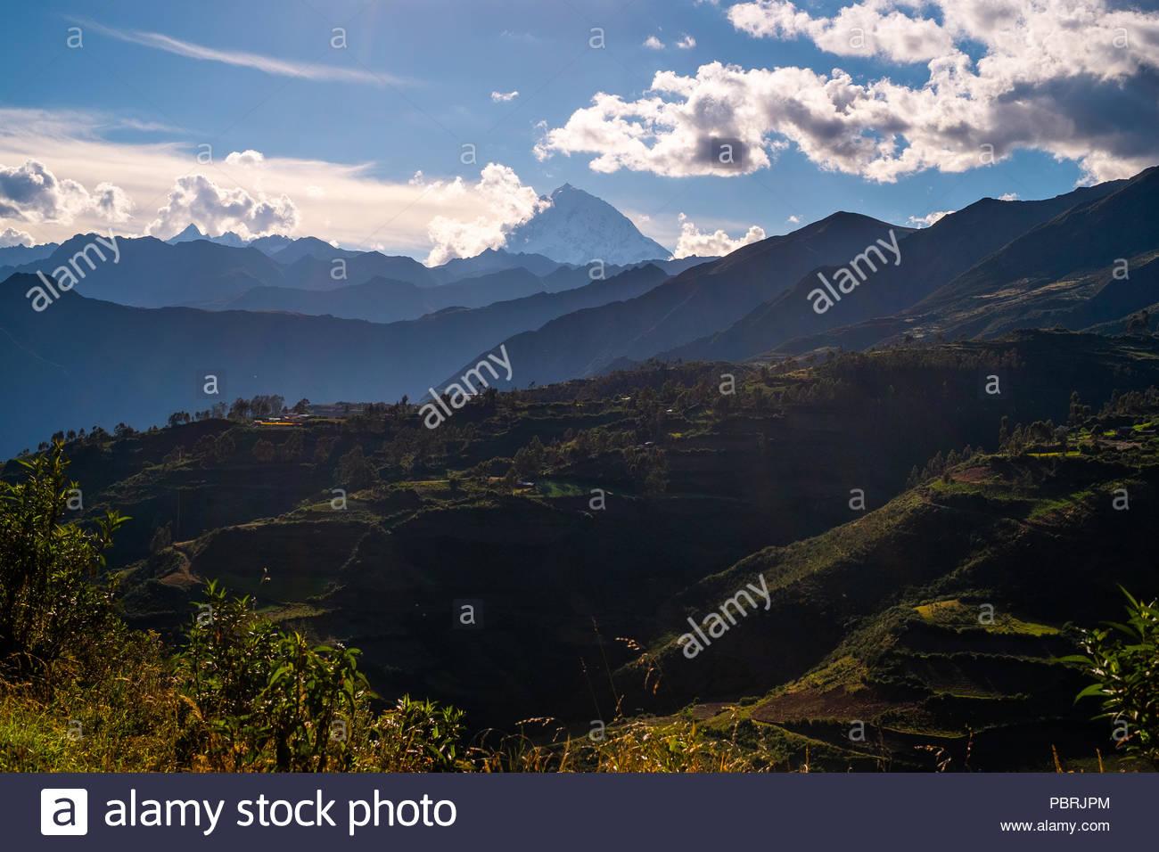View of Salkantay Mountain, Peru - Stock Image