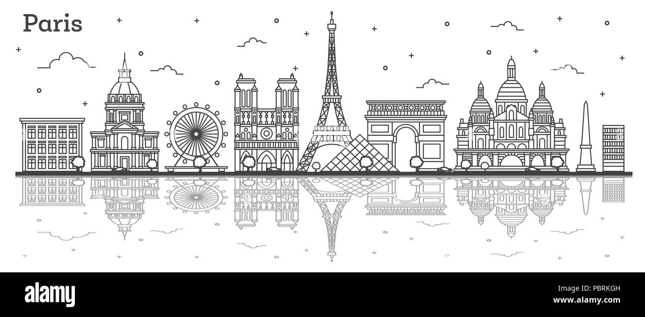 Paris Outline High Resolution Stock Photography And Images Alamy