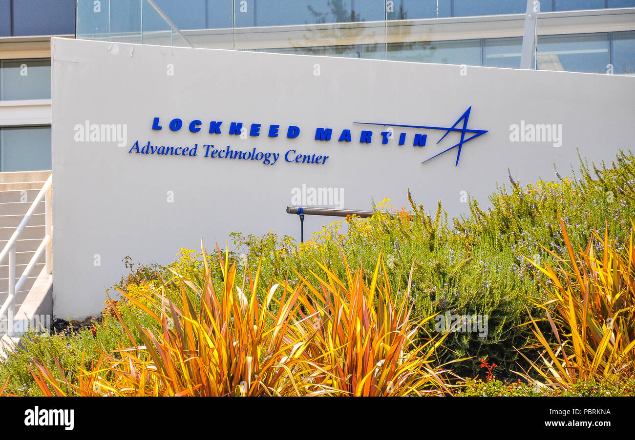 Palo Alto, CA - Lockheed Martin Advanced Technology Center - it is the R&D center of Lockheed Martin Corp. that focuses on addressing complex problems. - Stock Image