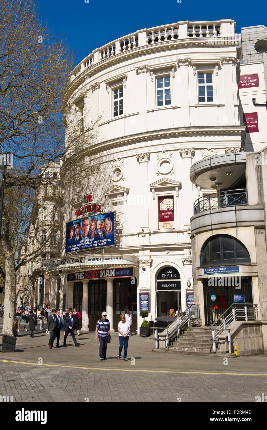 The Playhouse Theater is a West End theatre in the City of Westminster,  near Trafalgar Square, London, England, UK - Stock Image