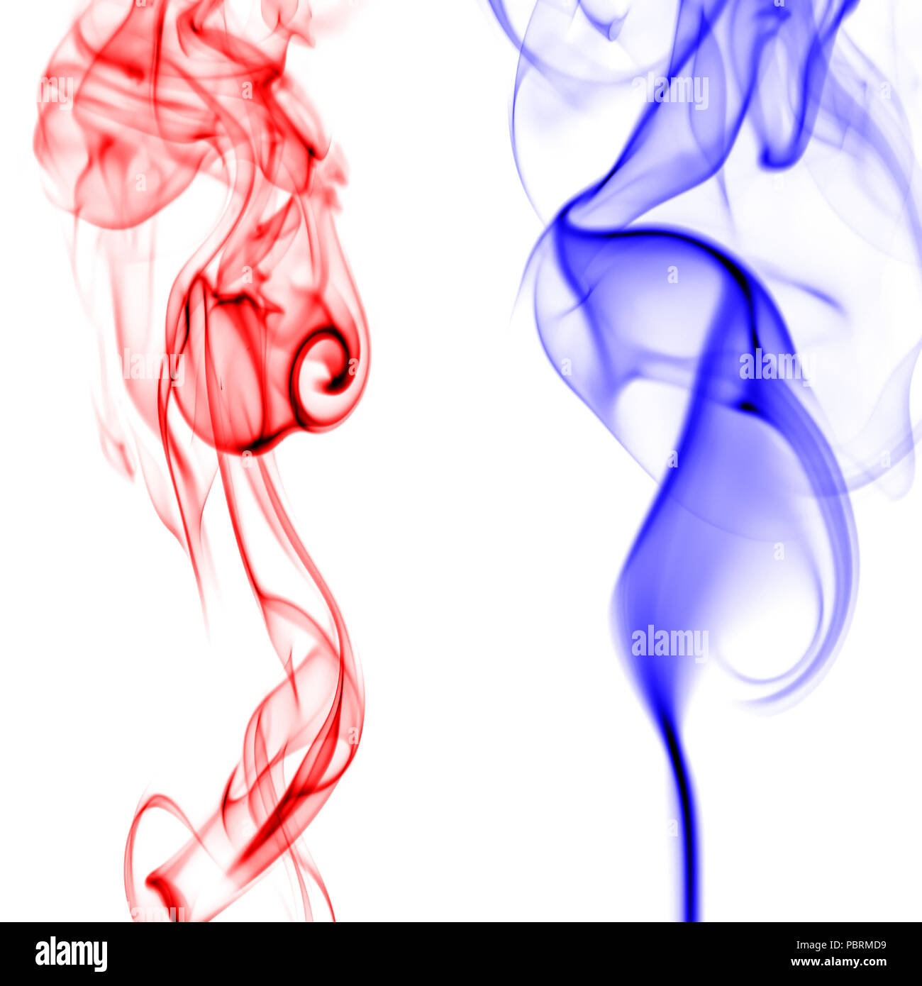red and blue smoke patterns on white background stock photo alamy alamy