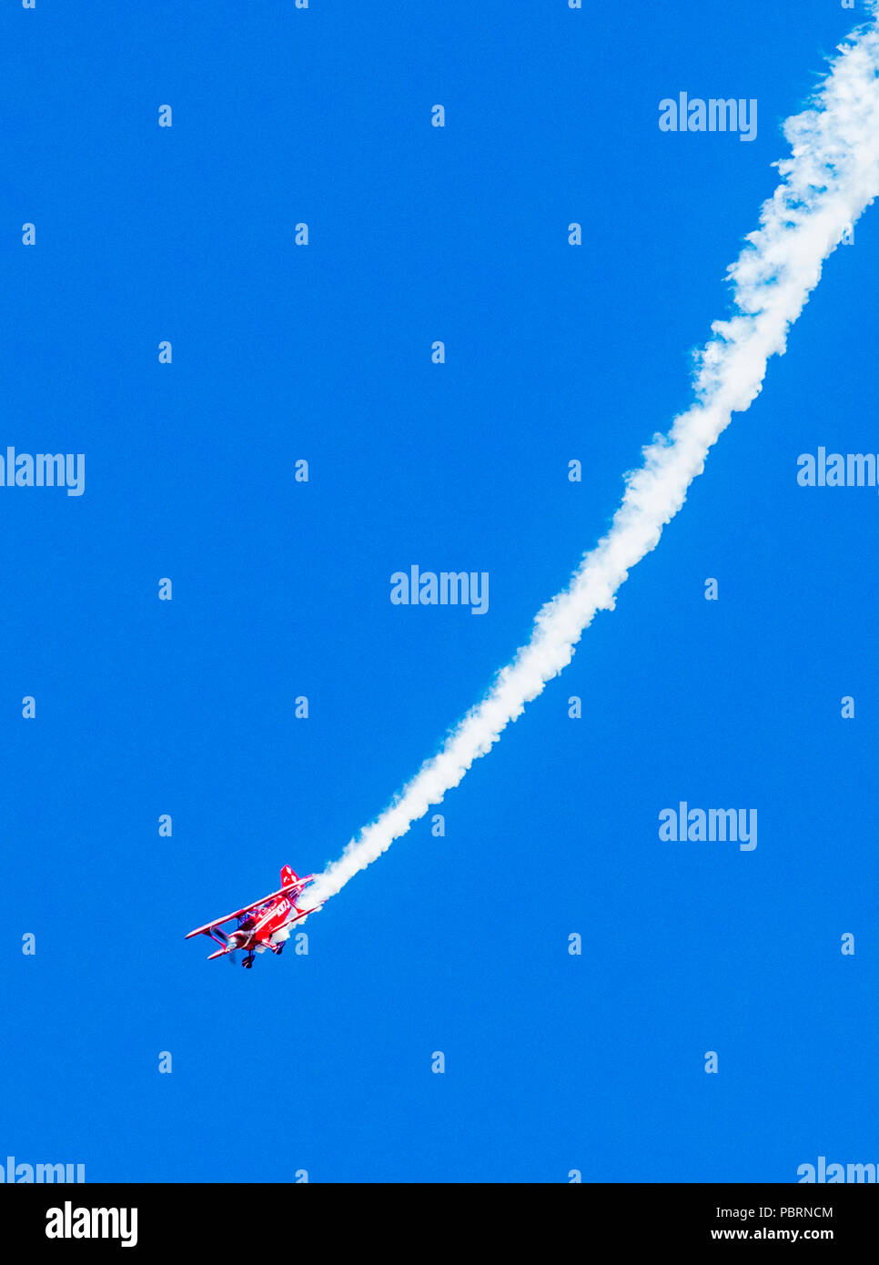 Female pilot, Pitts biplane; Metro State University of Denver Aerobatics Team; Salida Fly-in & Air Show; Salida; Colorado; USA - Stock Image