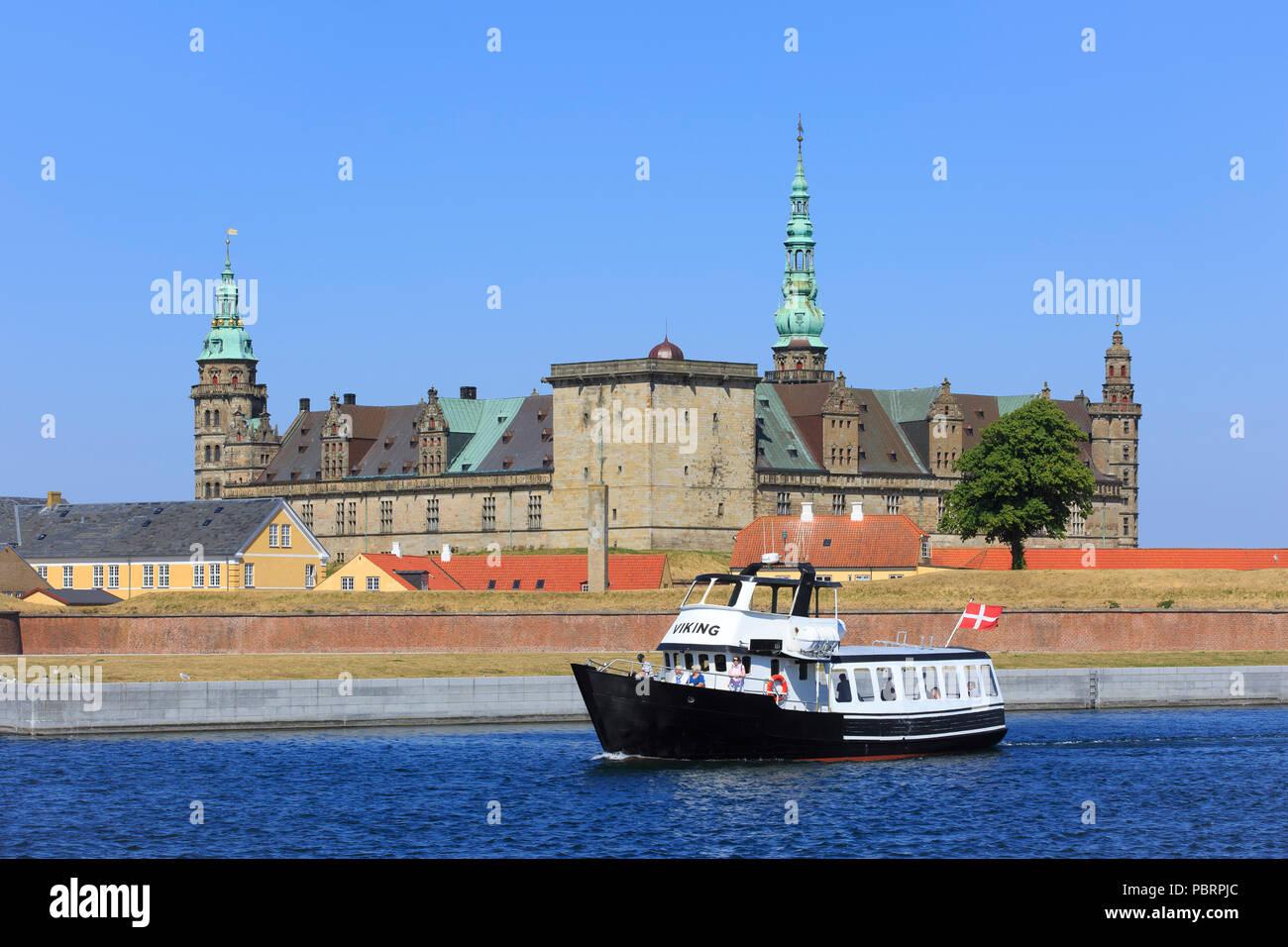 Kronborg Castle (a UNESCO World Heritage Site since 2000) in Helsingor, Denmark - Stock Image