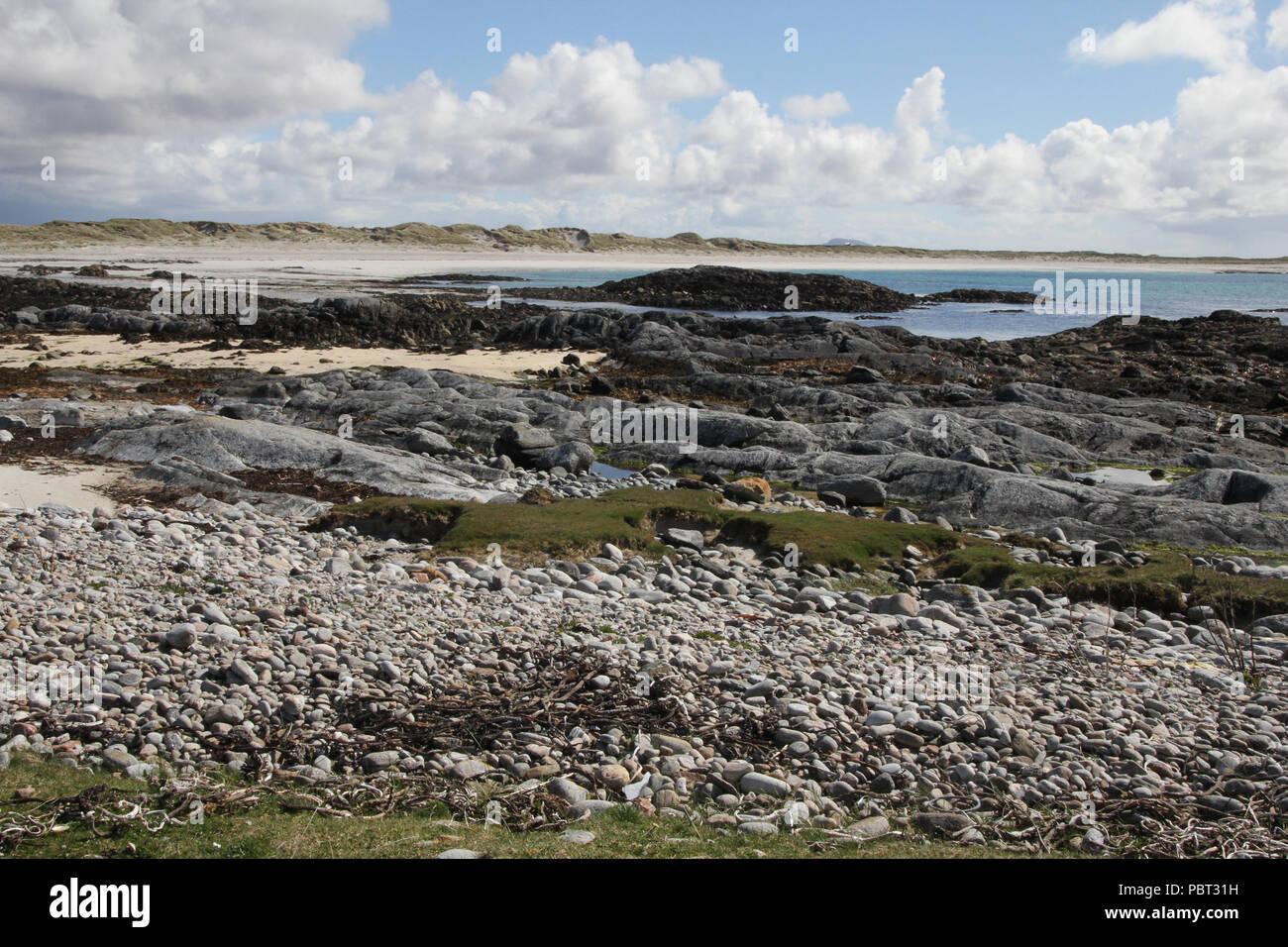 Uist Coast Outer Hebrides Scotland - Stock Image