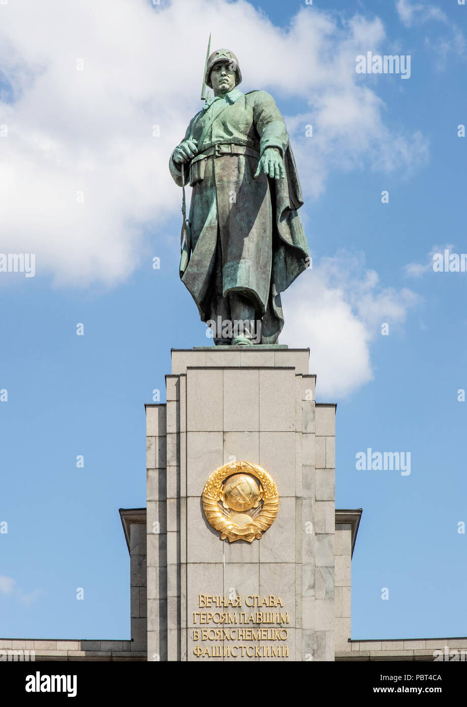Soviet War Memorial, Tiergarten, Berlin, Germany - Stock Image