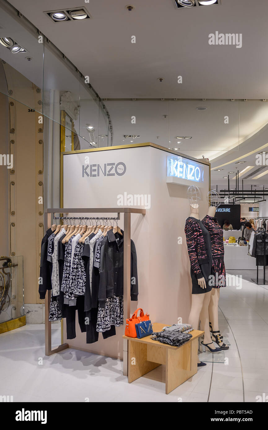 a29f9aa37595 PARIS, FRANCE - JUN 6, 2015  Kenzo section in the Galeries Lafayette city