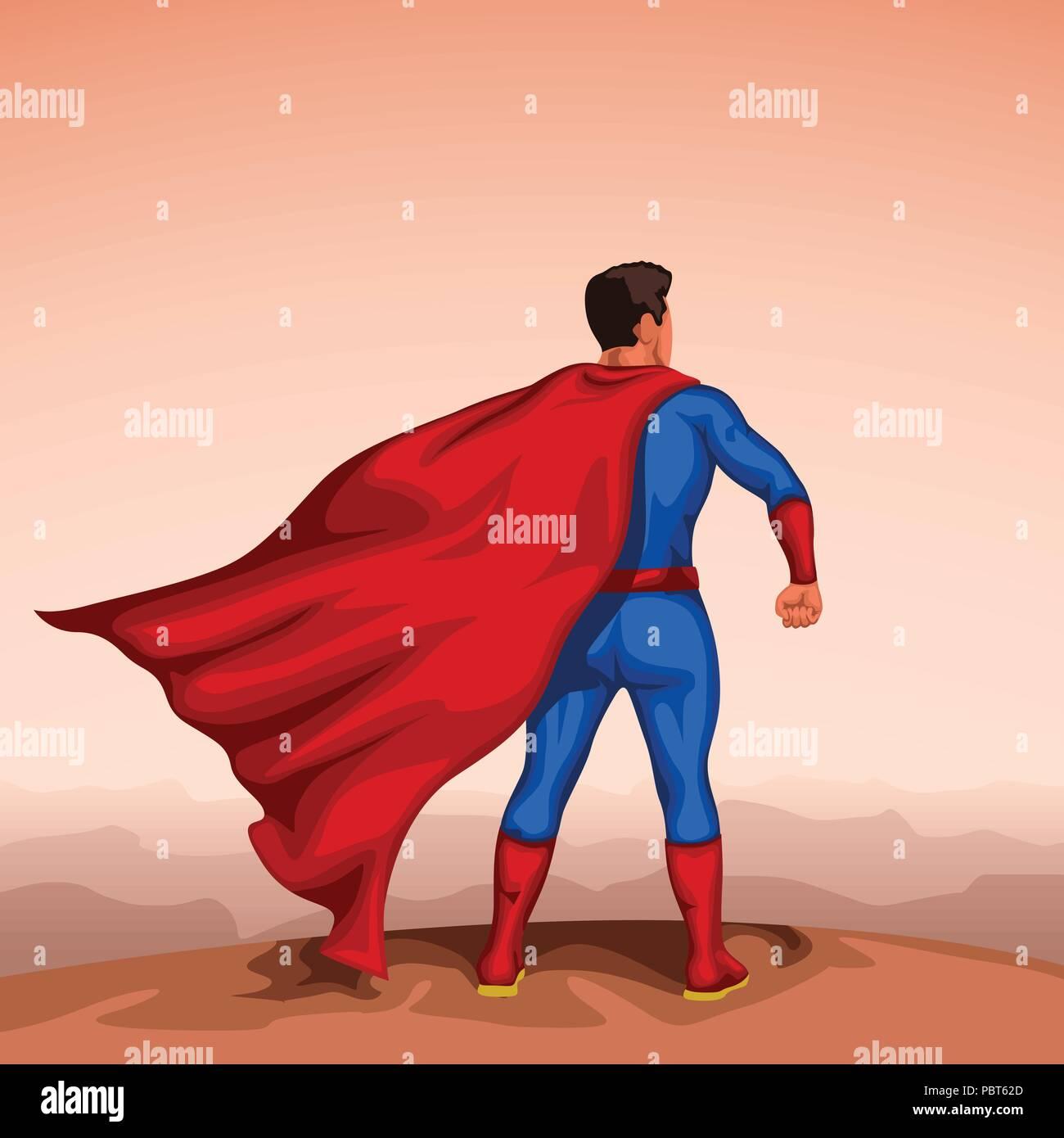 super hero back - Stock Image