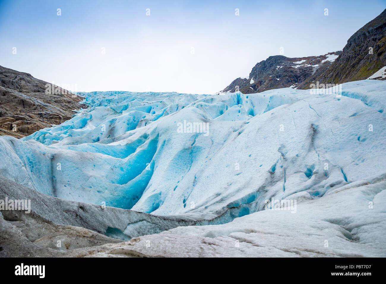 Part of Svartisen Glacier in Norway - Stock Image