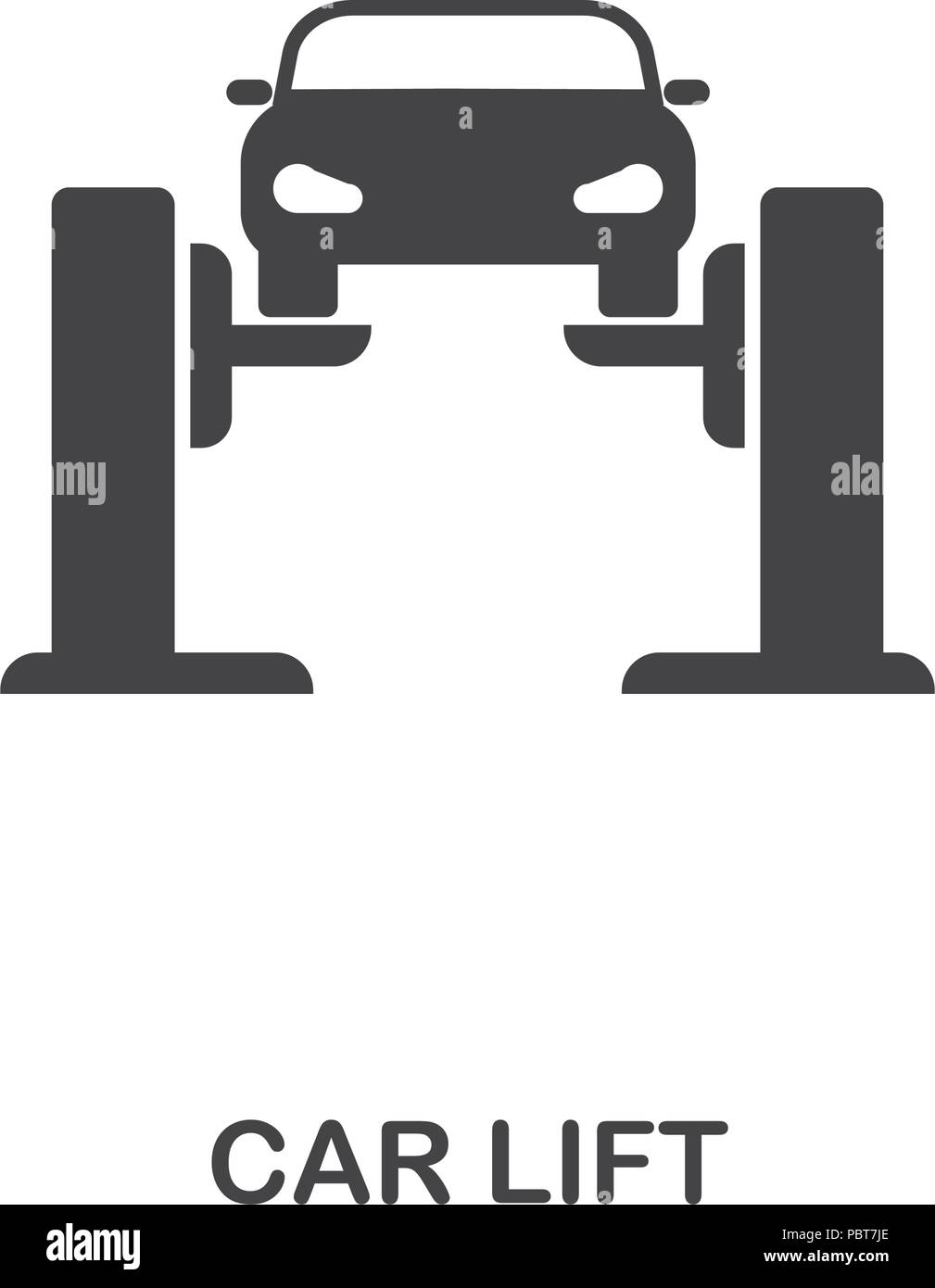 Car Lift creative icon. Simple element illustration. Car Lift ...